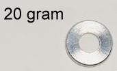 20 grams gewichtsring voor biljartkeu