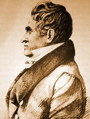 François Mingaud, getekend door C. Rodius in 1827.