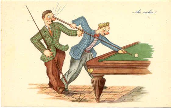 Even wat anders, een leuk spelletje op het biljart spelen?