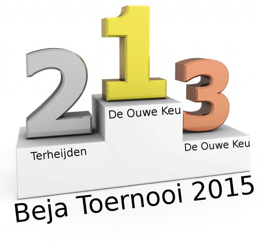 WInnaar B.E.J.A. toernooi 2015 - De Ouwe Keu B uit Hank, 2e plaats Terheijden, 3e plaats De Ouwe Keu A.