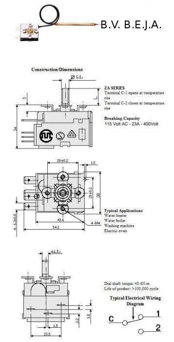Biljarttafelthermostaat schema