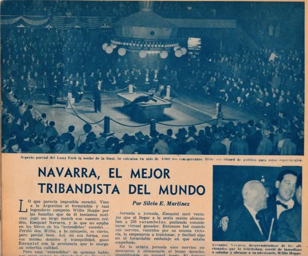 De finale nacht van juli 1949 in het Luna Park te Buenos Aires