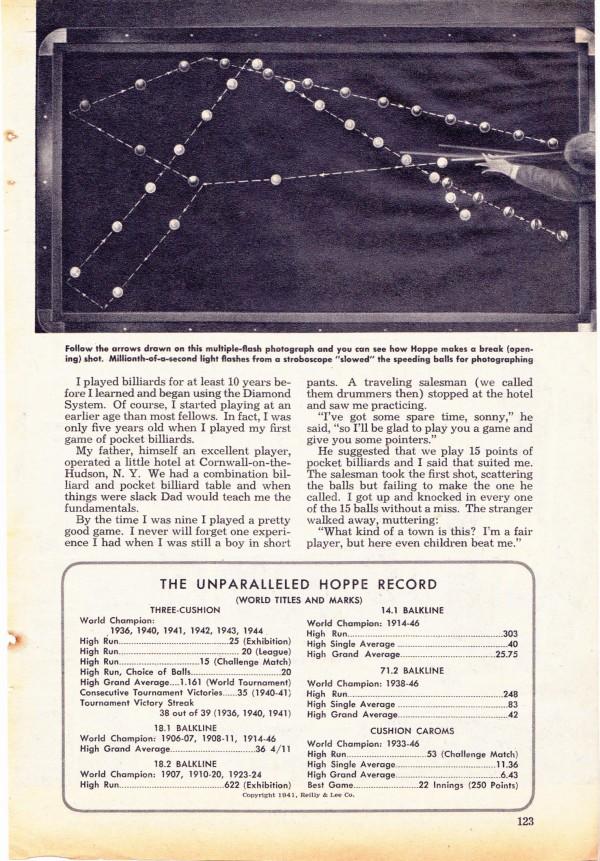 Stroboscopische foto uit Popular Mechanics van 1946