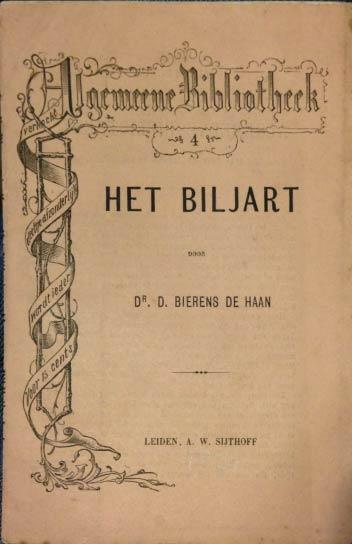 D. Bierens de Haan - Het Biljart (1872)
