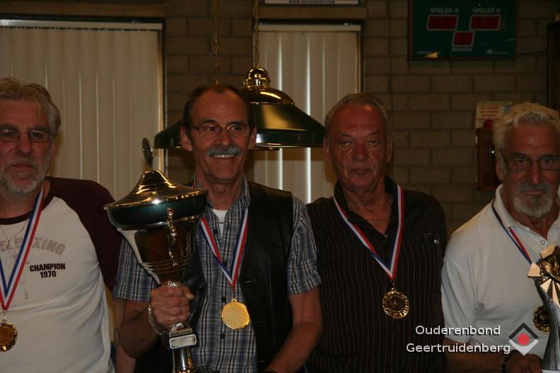Van links naar rechts: Terry van Erp, Henk Schoonen, Wim de Zeeuw en Henk Jansen.