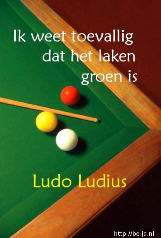 Ludo Ludius - Ik weet toevallig dat het laken groen is (2016)
